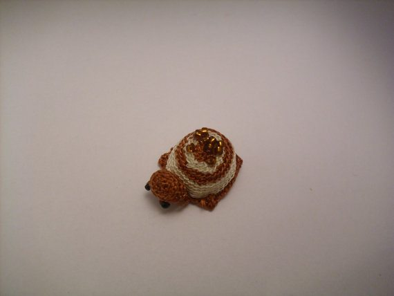 tiny crochet beaded turtle 20 More Examples of Extreme Tiny Crochet