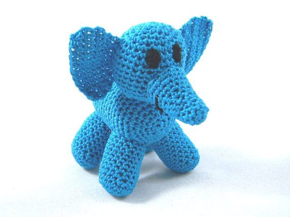 tiny crochet elephant