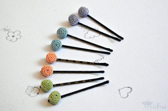 tiny crochet macaron bobby pins 20 More Examples of Extreme Tiny Crochet