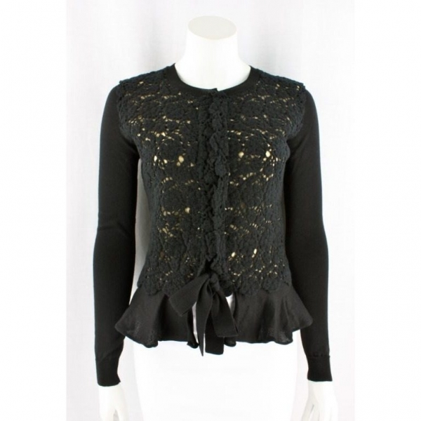 valentino crochet front cardigan 600x600 Designer Crochet: The 50 Famous Fashion Designers Project