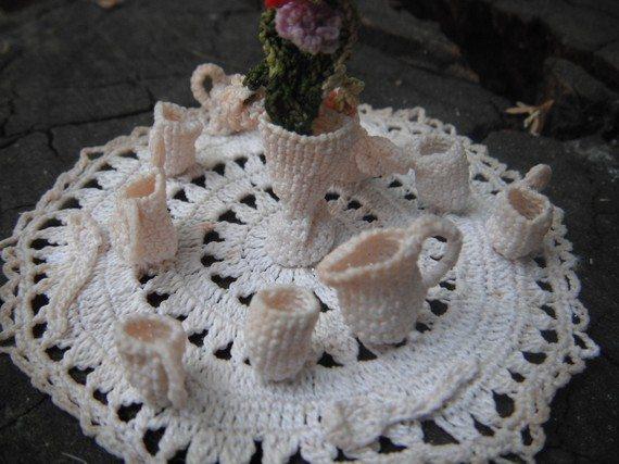 vintage crochet miniatures