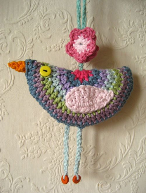 a crochet bird pattern