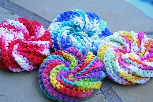 a crochet scrubbie