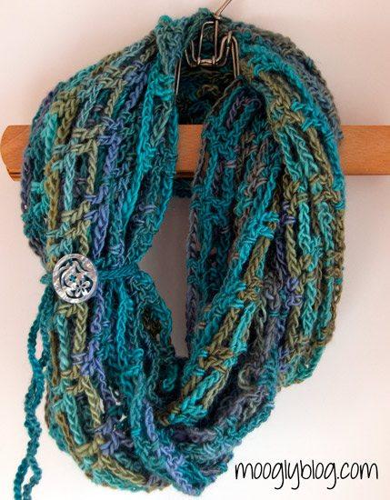 gehaakte art sjaal