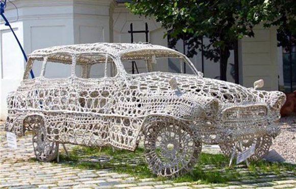 crochet car skeleton