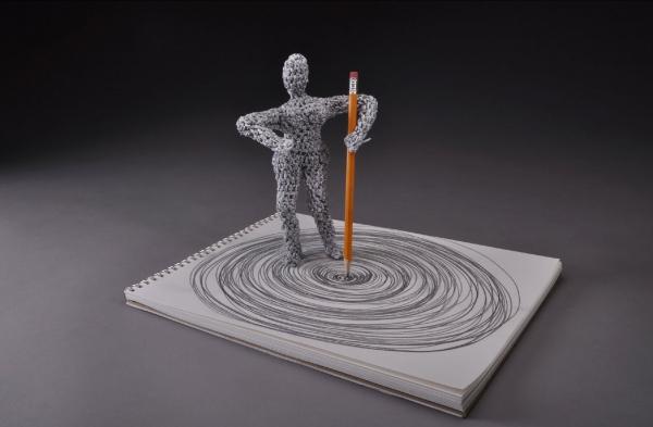 paper crochet book art