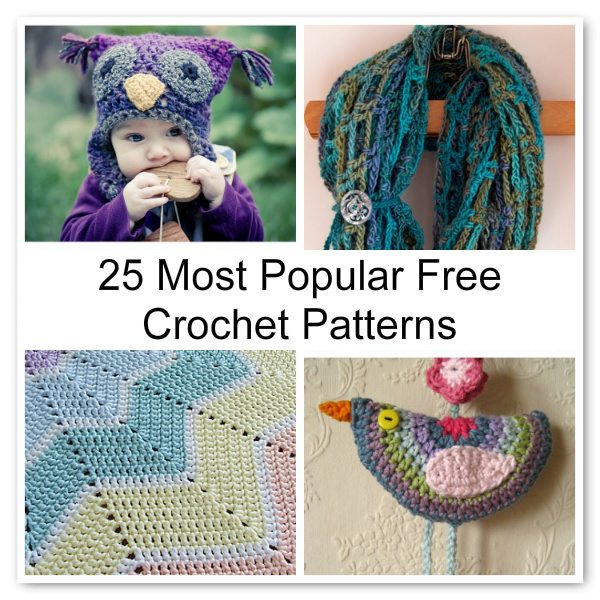 Post image for 25 Most Popular Free Crochet Patterns