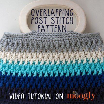 Crochet Stitches Video Tutorials : How to Crochet the Overlapping Post Stitch, video tutorial via @ ...