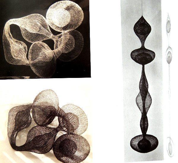 ruth asawa metal crochet sculptures