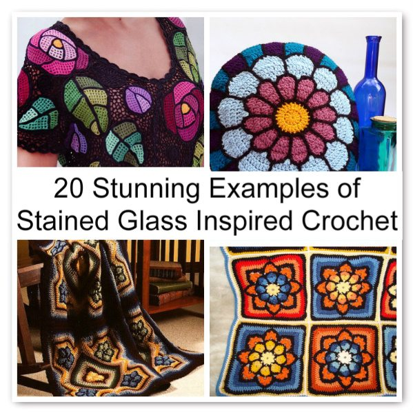 Post image for 20 Stunning Examples of Stained Glass Inspired Crochet