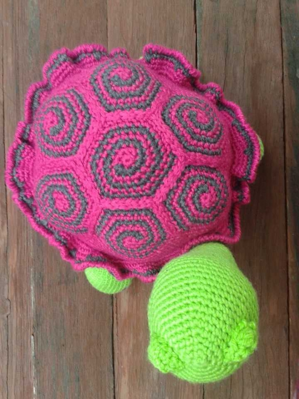 top of crochet turtle