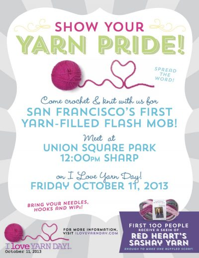 NationalYarnDay Flyer email1 0 1 400x517 2013 in Crochet: Crochet News