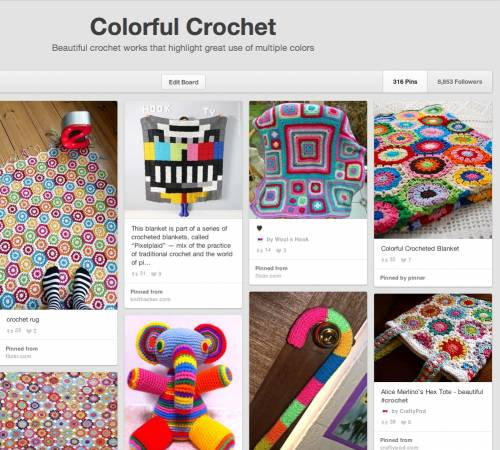 colorful crochet pinterest