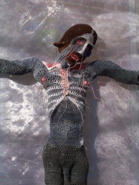 crochet art3 Spooky Crochet Art by Johanna Schweizer