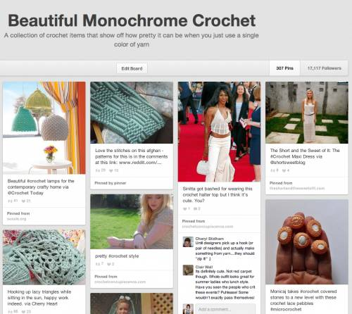 monochrome crochet pinterest