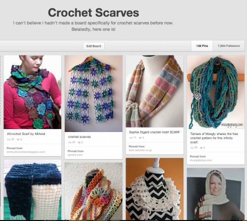 Post image for 10 Examples of Crochet Scarves From Pinterest