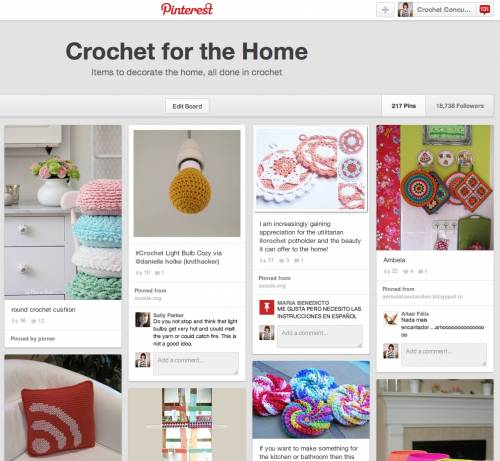 Post image for 10 Examples of Crochet Items for the Home, a Pinterest Selection