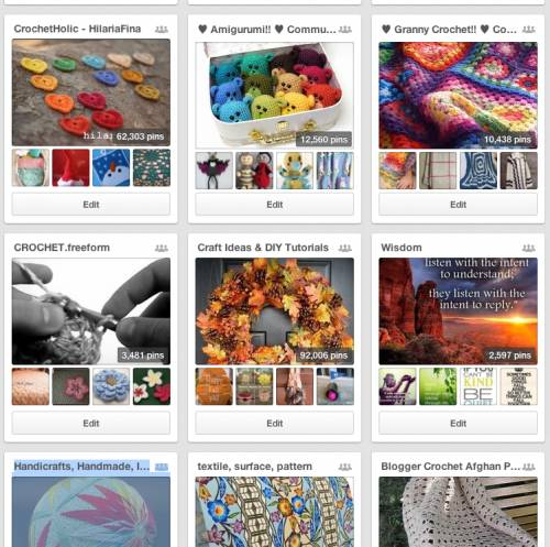Post image for 9 Inspiring Crochet Community Boards on Pinterest