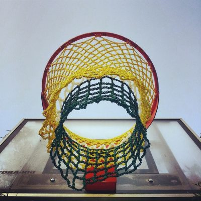 crochet basketball net 400x400 2013 in Crochet: Art and Artists