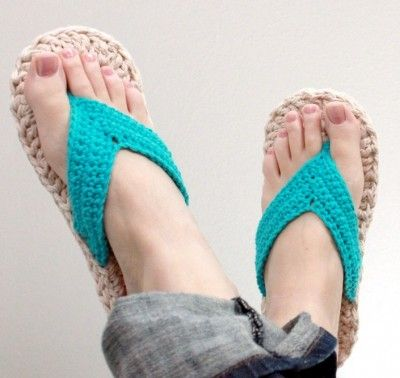 crochet flip flops 10 Gorgeous Examples of Crochet Shoes