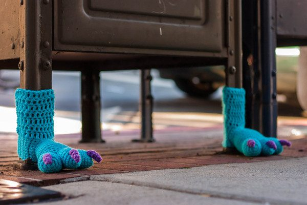 crochet monster feet