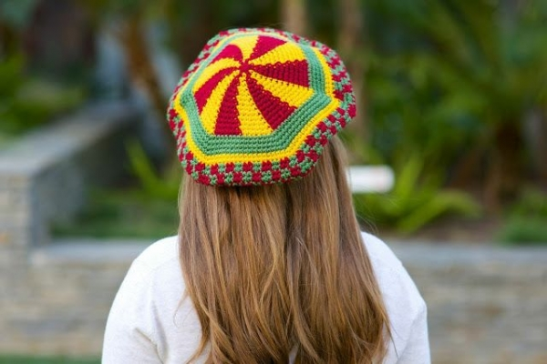 rasta crochet hat
