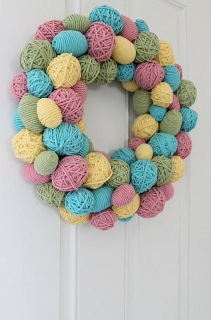 yarn wreath 10 Beautiful Photos of Yarn, a Pinterest Selection