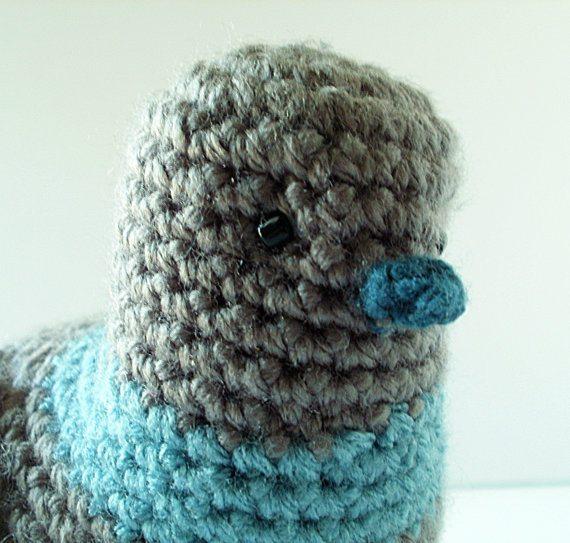 crochet pigeon etsy