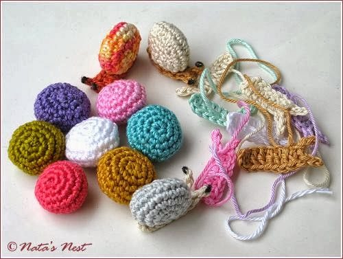 crochet snails pattern