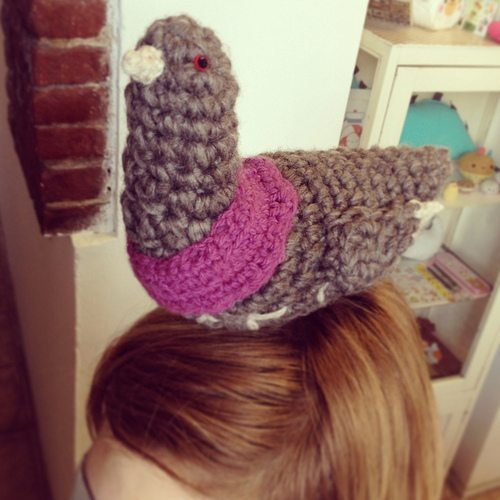 crocheted pigeon