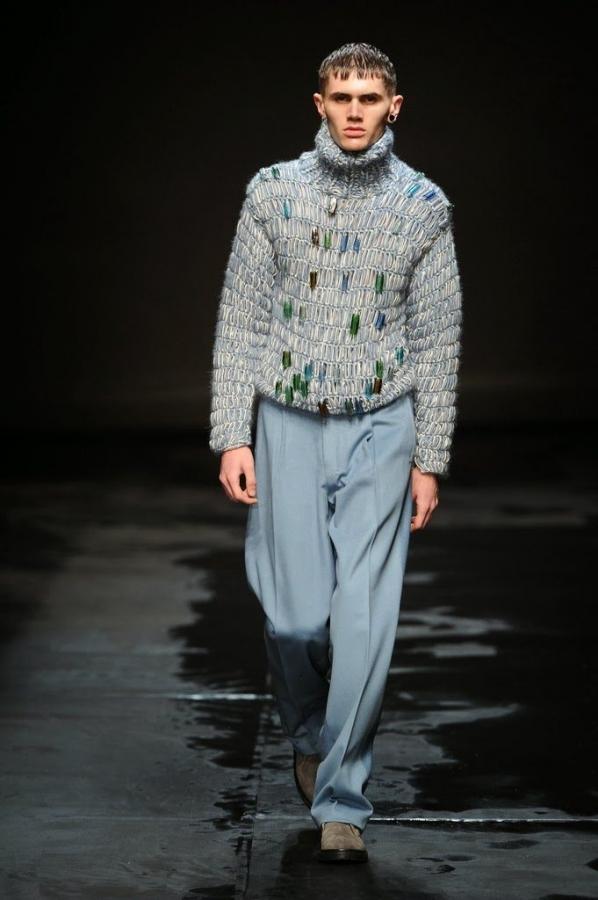 designer crochet sweater