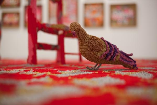 olek crochet pigeon
