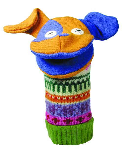 upcycled sweater puppet