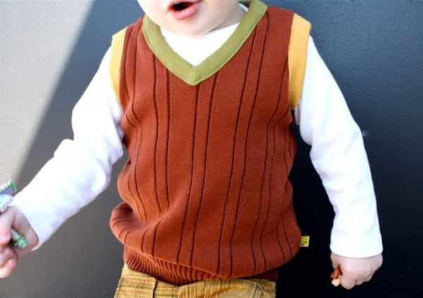 upcycled sweater vest