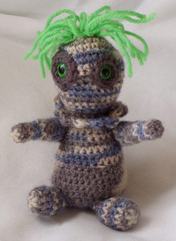 whimsical wild crochet pigeon