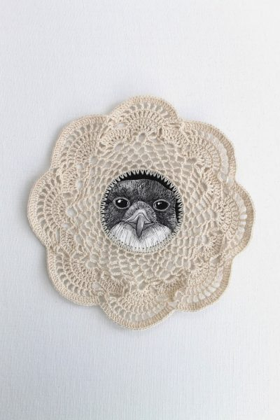 crochet bird art