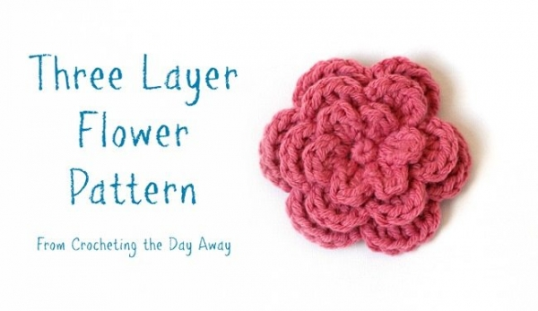 crochet flower pattern 600x347 Link Love for Best Crochet Patterns, Ideas and News