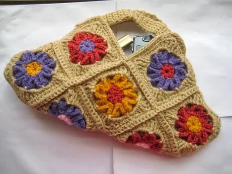crochet flower purse pattern