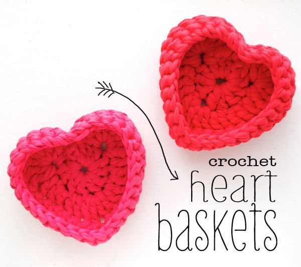 crochet heart basket Link Love for Best Crochet Patterns, Ideas and News