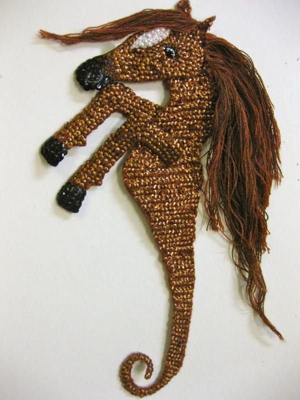 crochet sea horse