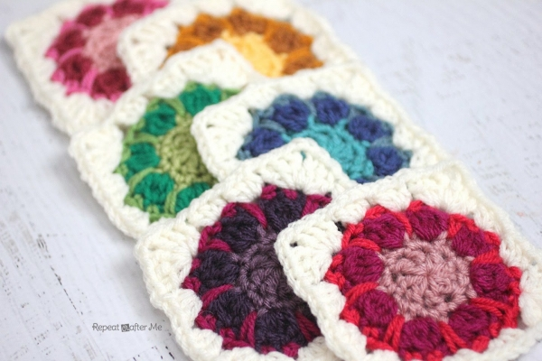crochet square pattern 600x400 Link Love for Best Crochet Patterns, Ideas and News