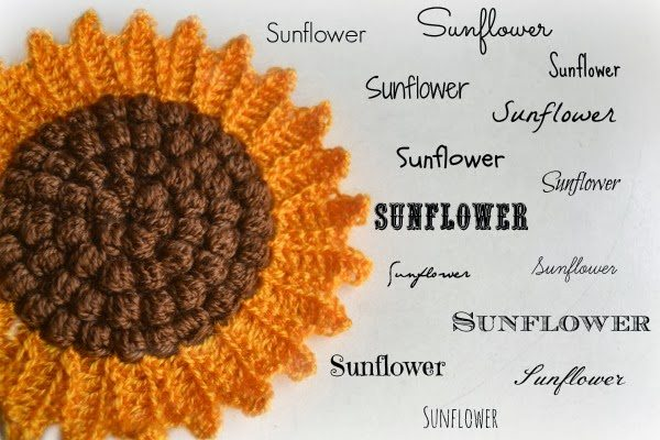 crochet sunflower pattern 9 Best Crochet Washcloth, Dishcloth and Potholder Patterns