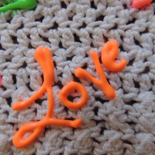 crochet fabric marker