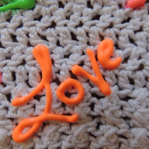 crochet marqueur tissu