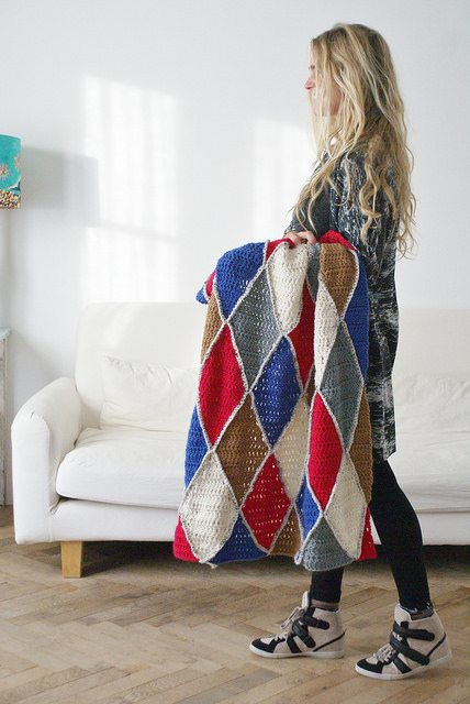 harlequin crochet blanket Link Love for Best Crochet Patterns, Ideas and News