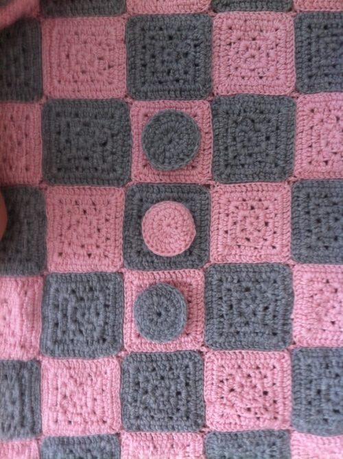 img 3363 Crochet Baby Checkerboard Blanket (My Mom Makes!)