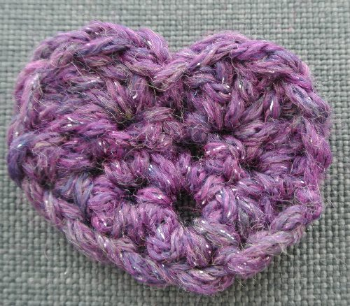 purple crochet heart