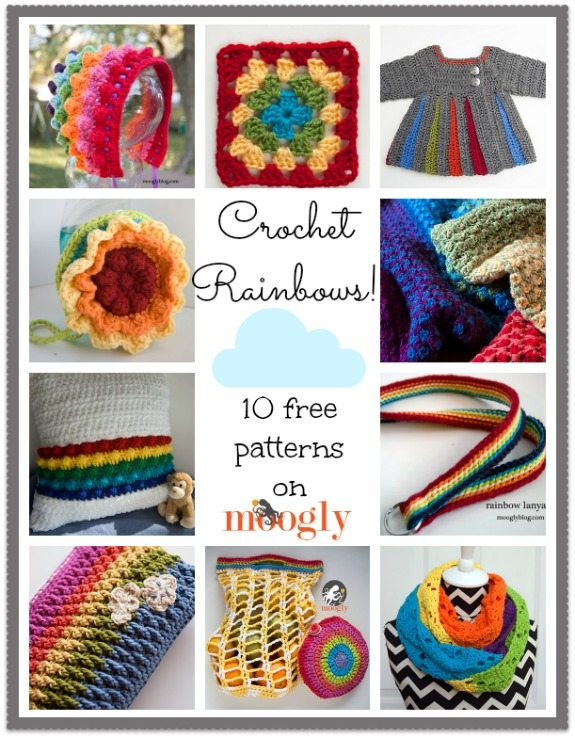 rainbow crochet free patterns