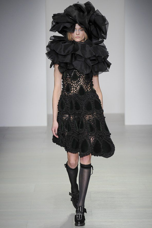 rocha crochet dress New Crochet on the Runway from John Rocha (Autumn/Winter 2014 Fashion Week)