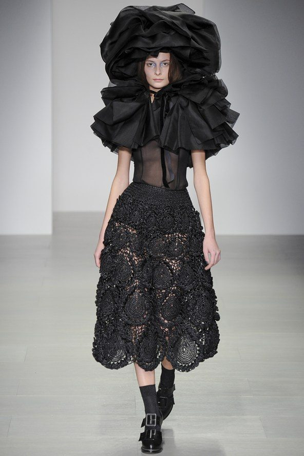 rocha crochet skirt New Crochet on the Runway from John Rocha (Autumn/Winter 2014 Fashion Week)